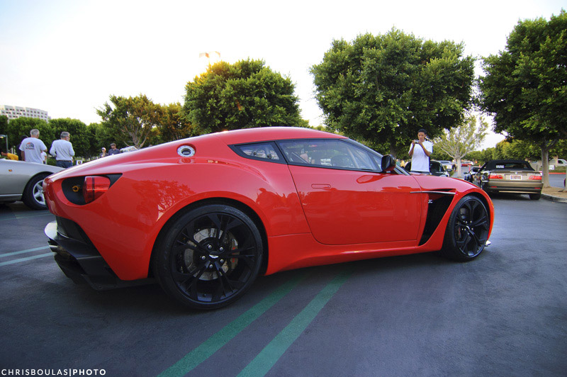 aston martin v12 zagato takes the stage at irvine cars and coffee